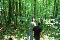 People in woods