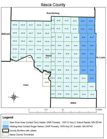 Itasca County DNR Forestry Areas